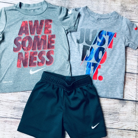 Jacket and Shorts 12M NWT Nike Baby Set baby Boys 3-Piece Just Do It Tee